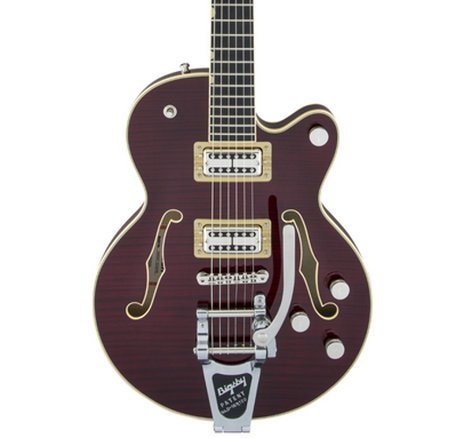Gretsch Guitars G6659TFM Players Edition Broadkaster Jr. Center Block Single-Cut Electric Guitar with Deluxe Hardshell Case G6659TFM-DCH