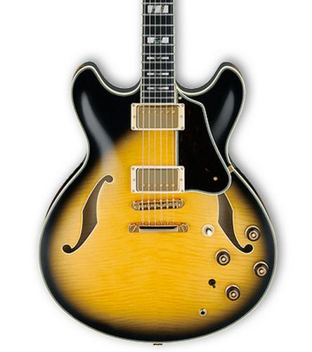 Ibanez AS200AYS Vintage Yellow Sunburst Artstar Series Semi-Hollowbody Electric Guitar with Hardshell Case AS200AYS