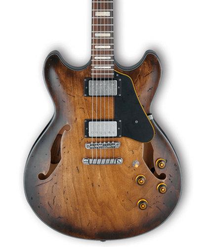 Ibanez ASV10ATCL Artcore Vintage Electric Guitar, Tobacco Burst Low Gloss Finish ASV10ATCL