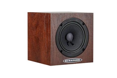 Auratone 5C-MAHOGANY-SINGLE 5C Super Sound Cube - Mahogany Single 5C Passive Studio Monitors with Mahogany Laminate Finish 5C-MAHOGANY-SINGLE