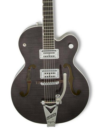 Gretsch Guitars G6120SH-2TBK-DIS G6120SH-2TBLK [DISPLAY MODEL] Brian Setzer Hot Rod Hollow Body Electric Guitar, Tuxedo Black 2-Tone G6120SH-2TBK-DIS