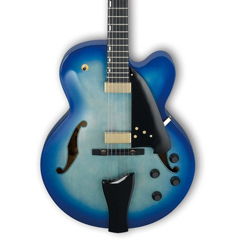 Ibanez AFC155 Electric Guitar with Case, Jet Blue Burst Finish AFC155JBB