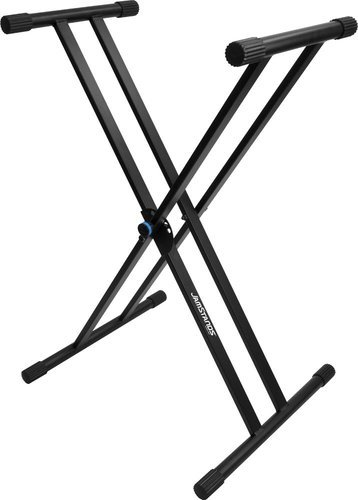 Ultimate Support JS-502DC  JamStands Double-Braced X-Style Keyboard Stand With Blue Accent Bands JS-502DC