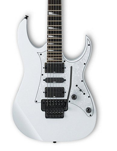 White Rg Series Electric Guitar With Edge Zero Ii Tremolo By Ibanez