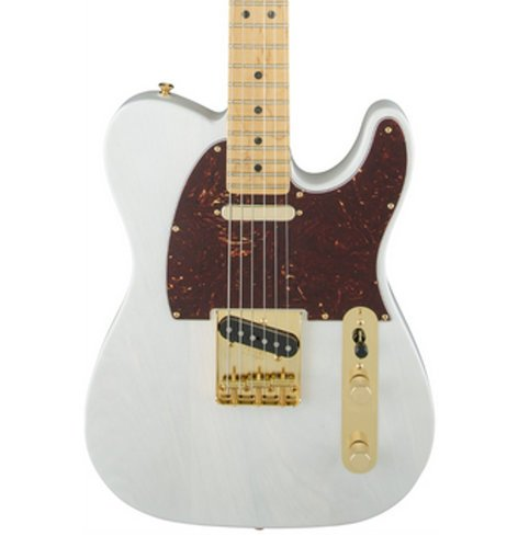 Fender 2016 Limited Edition Select Light Ash Telecaster [DISPLAY MODEL] Electric Guitar with Maple Fingerboard, White Blonde Finish TELE-SELECT-LTD-DIS