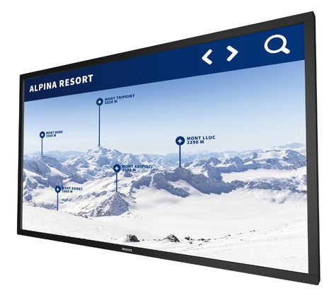 """Philips Commercial 55BDL4051T  55"""" Android T Series Display with 10pt Touch IR and 450 nit Brightness 55BDL4051T"""