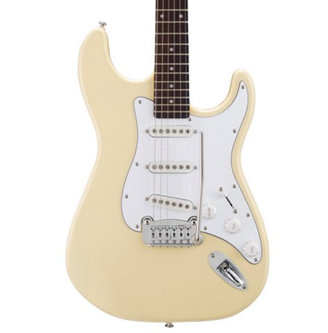 G&L S-500-VWH Tribute Series Electric Guitar with Vintage White Finish S-500-VWH