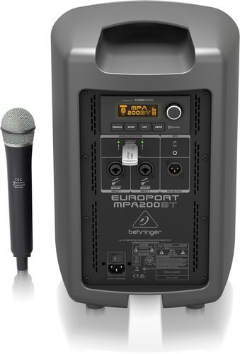 Behringer MPA200BT  All-in-One Portable 200-Watt Speaker with a Wireless Microphone MPA200BT