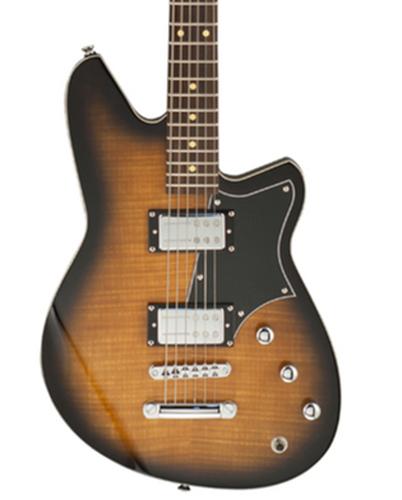 Reverend Guitars Descent RA Baritone Coffee Burst Flame Maple Electric Guitar DESCENTRA-CBFM