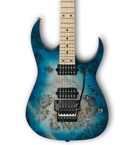 Ibanez RG652MPBGFB RG Prestige 6-String Electric Guitar with Case - Ghost Fleet Blue Burst RG652MPBGFB