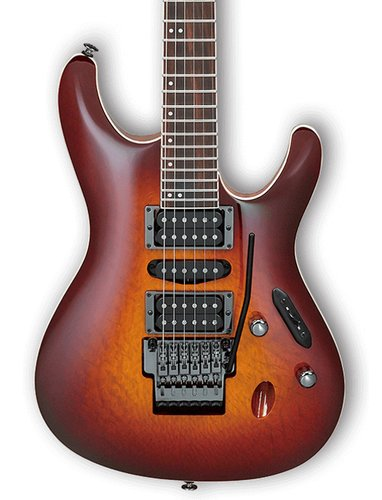 Ibanez S6570SK-STB Sunset Burst S Prestige 6 String Electric Guitar with Case S6570SKSTB