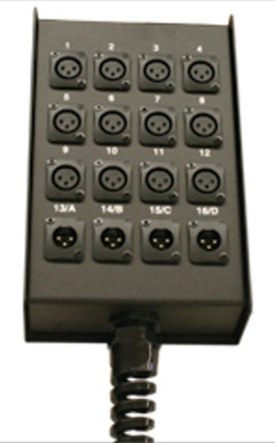 RapcoHorizon Music S6BPPR 6-Channel Pre-Punched All Microphone Snake Box with Strain Relief S6BPPR