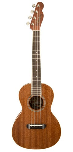 Fender Ukulele Hau'oli Natural Mahogany Folk Music Series Tenor Ukulele with Wound C UKULELE-HAUOLI