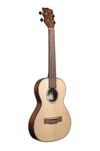 Kala Brand Music Co. KA-SSTU-T Solid Spruce Tenor Travel Ukulele with Gig Bag KA-SSTU-T