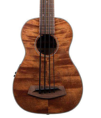 Kala UBASS-EM-FS U-Bass Exotic Mahogany Fretted Bass Ukulele with Case UBASS-EM-FS