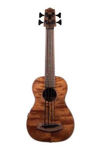 Kala Brand Music Co. U-Bass Exotic Mahogany Fretted Bass Ukulele with Case UBASS-EM-FS