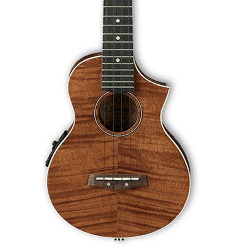 Ibanez UEW15E Open Pore Natural UEW Series Acoustic/Electric Cutaway Concert Ukulele with UK-300T Preamp UEW15E