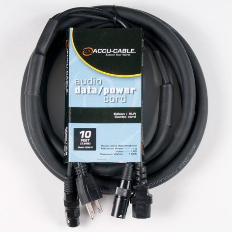 Accu-Cable SKAC10  Data / Power Combo Cord, 10 ft SKAC10