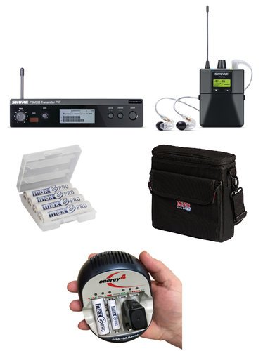 Shure P3TRA215CL-K P3TRA215CL IEM Bundle with Case, Batteries and Charger P3TRA215CL-K