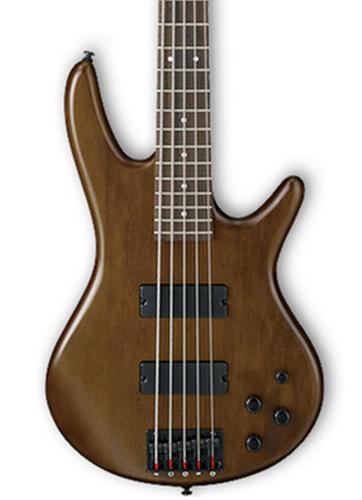 Ibanez GSR205BWNF Walnut Flat Gio Series 5-String Electric Bass GSR205BWNF