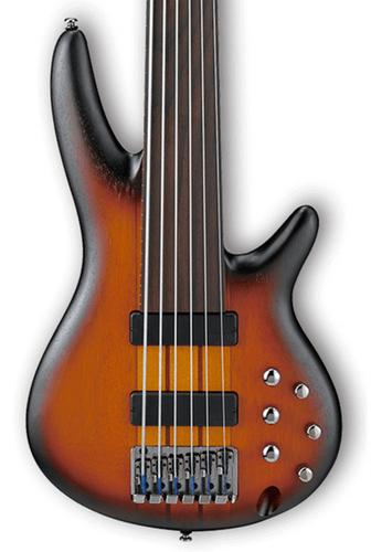 Ibanez SRF706 SR Bass Workshop 6 String Fretless Electric Bass - Brown Burst Flat SRF706BBF