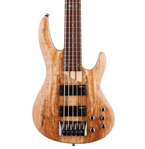 ESP Guitars LTD B-205SM 5-String Electric Bass Guitar, Natural Satin LB205SMNS