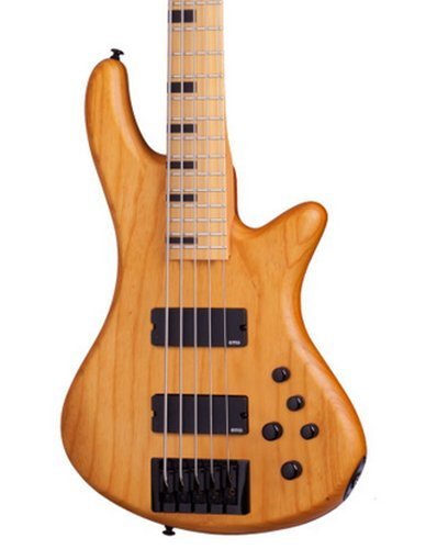 Schecter Guitars Stiletto-5 Session Aged Natural Satin 5-String Electric Bass STILETTO-SESSION-5