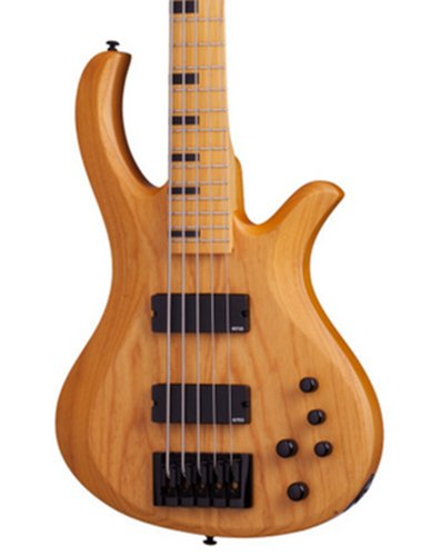 Schecter Guitars Riot-5 Session Aged Natural Satin 5-String Electric Bass RIOT-SESSION-5