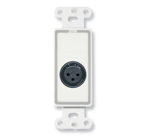 Radio Design Labs D-XLR3F Decora® Wall Plate with 3-Pin XLR-F Connector with Terminal Block DXLR3F