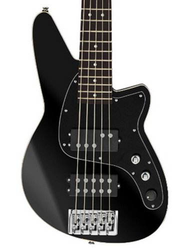 Reverend Guitars Mercalli 5 5-String Electric Bass in Midnight Black MRC5