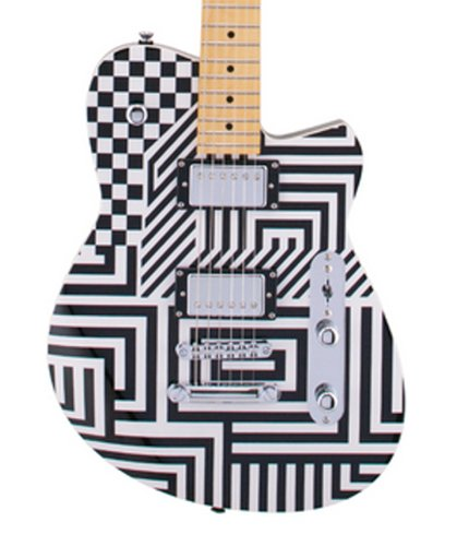 "Reverend Guitars Jenn Wasner Signature JW-1 Solid Body Electric Guitar with ""Optic Interruption"" Finish JW1"