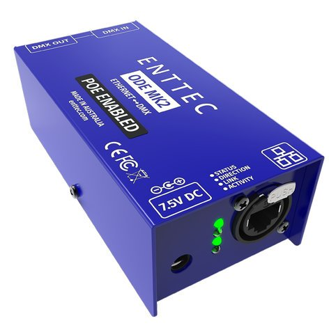 Enttec 70406 Open DMX Ethernet Gateway with POE, MKII 70406