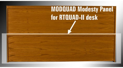 HSA Rolltops MODQUAD Modesty Panel for Rolltop Custom Quad Desks MODQUAD