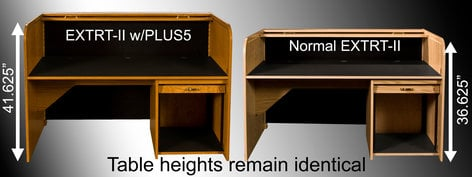 """HSA Rolltops PLUS5 5"""" Extra Height Option for Low-Profile Desks PLUS5"""