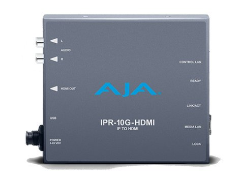 AJA IPR-10G-HDMI SMPTE ST 2110 IP Video and Audio to HDMI Mini-Converter IPR-10G-HDMI