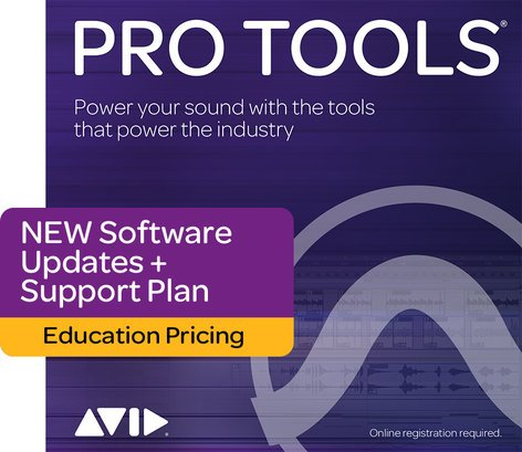 Avid Pro Tools® 1-Year Updates + Support Plan For EDU Students / Teachers [BOX] PROTOOLS-UP/SUP-STTE
