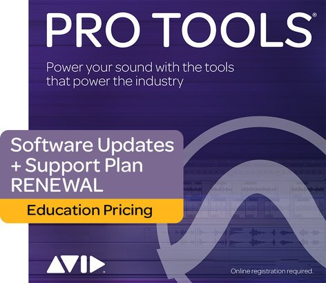 Avid Pro Tools® 1-Year Updates + Support Plan Renewal For EDU Institutions [BOX] PROTOOLS-UP/SUP-I-RN