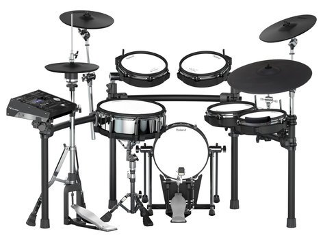 Roland V-Drums TD-50K-S Bundle 6-Piece Electronic Drum Kit With Extra PDX-100 Pad And BT-1 Bar Trigger
