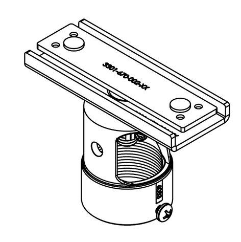 "Premier PP-UA  Unistrut Adapter with 1.5"" Cable-Access Coupler PP-UA"