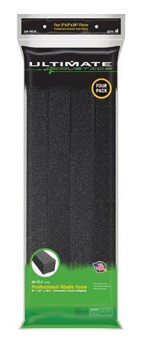 """Ultimate Acoustics UA-FE-2 4-Pack of Acoustic Foam Edging, 2""""x2""""x24"""" UA-FE-2"""