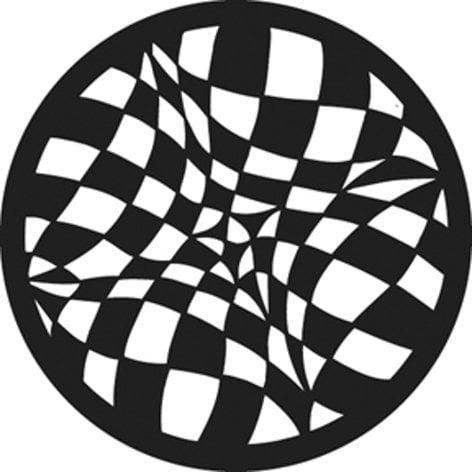 GAM G847 Checkerboard Vision Steel Gobo G847