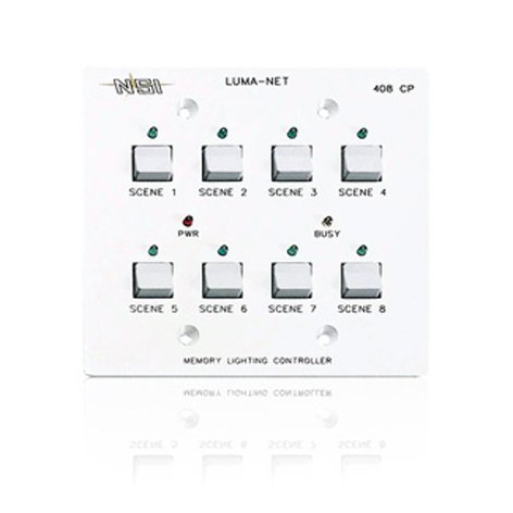 Leviton N0408-CP0 Remote Memory Control Panel (with 8 Programmable Scenes, Controls 100 Dimmer Channels) N0408-CP0