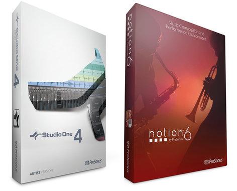 PreSonus Studio One 4 Artist + Notion 6 Bundle Includes Studio One 4 Artist  And Notion 6 (Download)