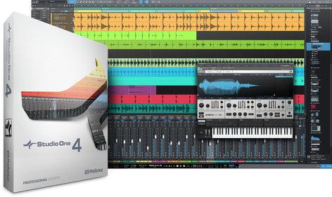 PreSonus Studio One 4 Professional Pro Digital Audio Workstation Software  (download)