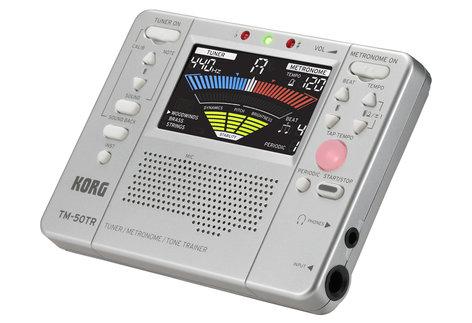 Korg TM-50TR Tuner / Metronome / Tone Trainer, Silver TM50TRSL