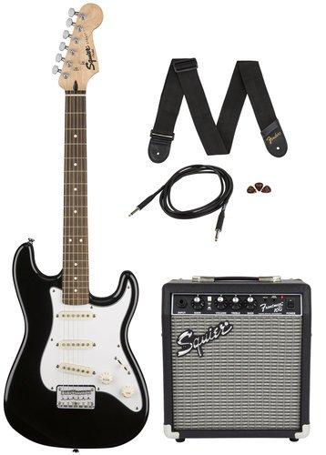 Squier STRATPACK-SSS Strat® Pack SS Guitar Pack with Short Scale Stratocaster and Frontman 10G Amplifier STRATPACK-SSS