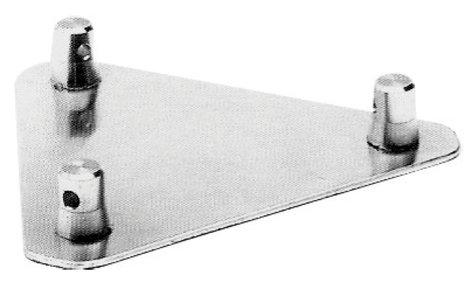 "Global Truss TR-4108 12"" x 12"" Aluminum Base Plate for Triangular Truss Segments TR4108"