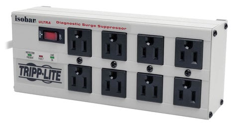 Tripp Lite ISOBAR8ULTRA 8-Outlet Diagnostic Surge Suppressor ISOBAR-8-ULTRA