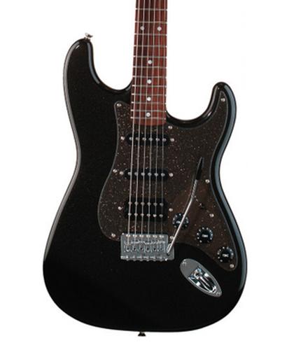 Squier STRAT-AFF-HSS-MBK Montego Affinity Series Straocaster Black Metallic  Stratocaster HSS Electric Guitar