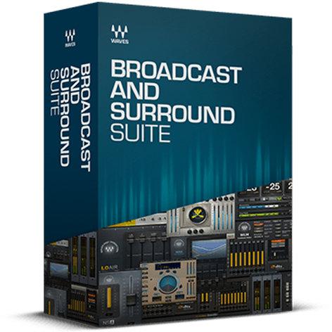 Waves Broadcast and Surround Suite [VIRTUAL] Audio Processing Software Bundle BCSURSTE